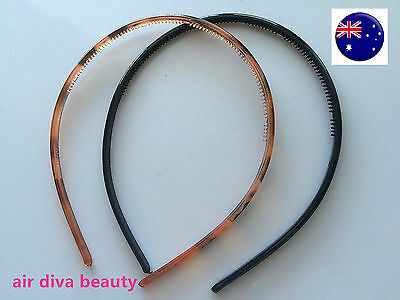 1x Women Girls Plastic Slim Thin Leopard or black Sports Hair band Headband hoop