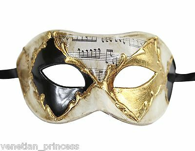 Roman Gladiator Vintage Cracked Venetian Masquerade Mask Gold NEW Unisex