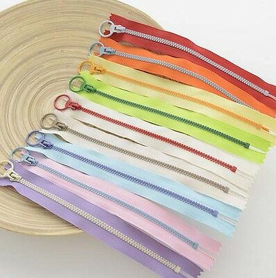 20CM 30CM Zipper for purse or bags manufacture 9 colors Ring pull DIY D2
