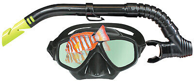 Land & Sea Clearwater Black Mirror Mask & Snorkel Set - Great Value Set