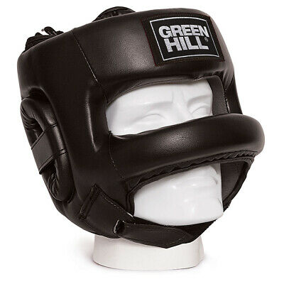 Casco Boxe Castle Caschetto Barra Para Naso Green Hill Sparring Boxing Sbarra