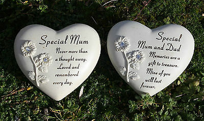 Heart Engraved Memorial Grave Marker Headstone Plaque
