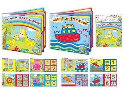 Baby Bath Books Plastic Coated Fun Toys Kids Child Bath Time Play Learning Toys