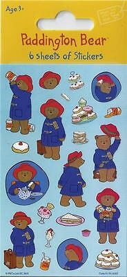 Paddington Bear Stickers Party Pack of 6 Sheets - Loot Bag Fillers