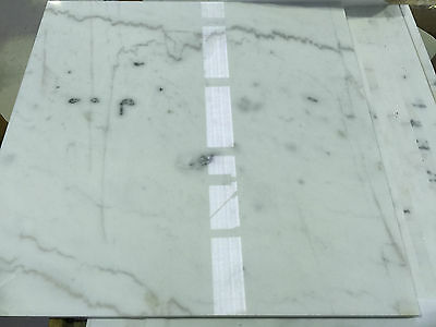 Brand New Polished Guangxi White Marble Tile 600x600x18mm