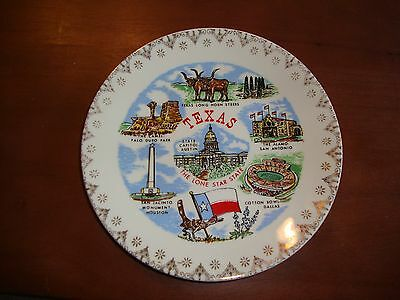 "Vintage CollectableTexas The Lone Star State Plate 7 1/2"" #46"