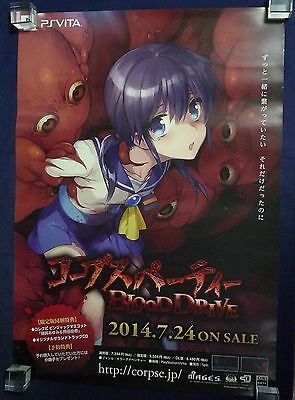 PS VITA Corpse Party BLOOD DRIVE Advertising Poster Japan limited Rare NEW!!