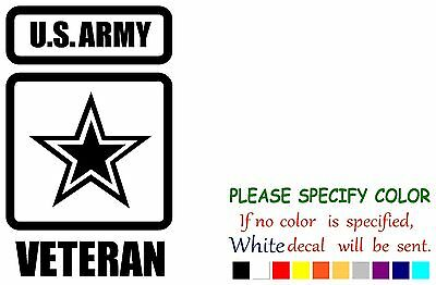 US Army Veteran Funny Vinyl Decal Sticker Car Window laptop tablet truck 7""