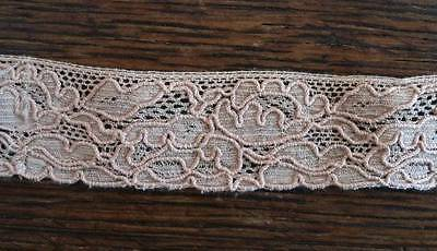 1 Yard Vintage Alencon Embroidered Narrow Lace Trim 1""