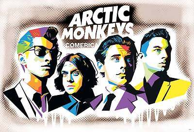 "Arctic Monkeys (2002-Now) POSTER 23""x34"" English Indie Rock Punk Freeship WW"