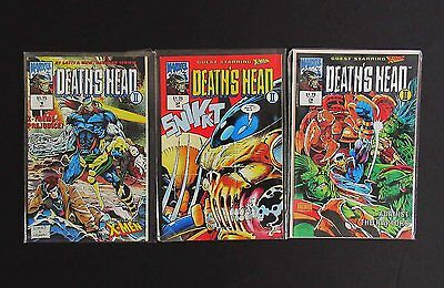 Death's Head II Comic Books Run Issues 1 2 and 3 Guest Starring X-Men Marvel