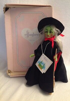 "EFFANBEE Storybook Collection Wizard of Oz Wicked Witch  Doll  11"" 1987  #1169"