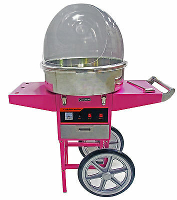 Voster 1030W Electric Commercial Cotton Candy Maker Fairy Floss Machine Dome Car
