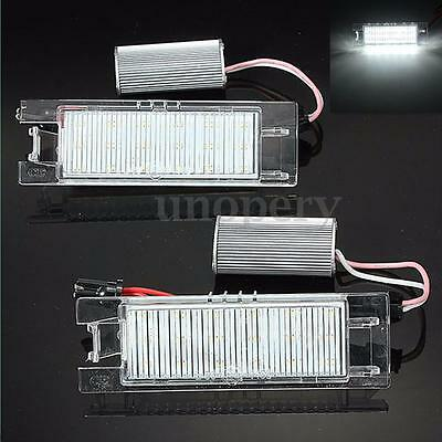 2x LED Number Plate Light For Vauxhall Opel Corsa Astra Zafira Vectra Error Free