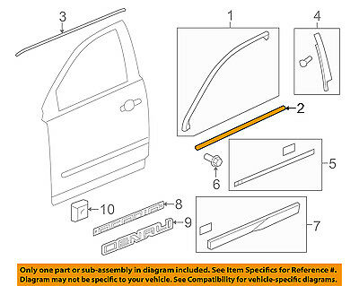 GM OEM-Door Window Sweep-Belt Molding Weatherstrip Right 20940627