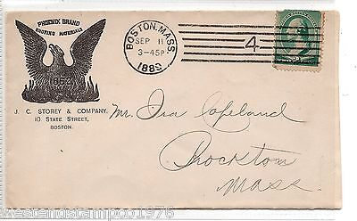 Postal History Usa 1889 Cover. Illustrated Phoenix Brand Roofing Materials.