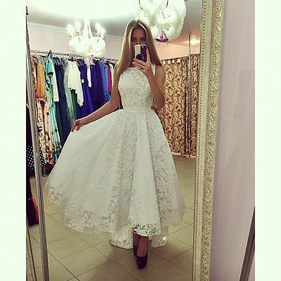 New Formal Ladies Lace Dress Prom Gown Evening Party Cocktail Bridesmaid Wedding