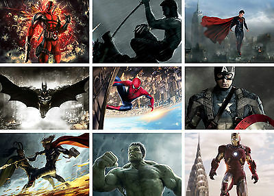 Marvel DC Super Heroes Batman Ironman Hulk Art Poster Print Buy 1 get 2 FREE