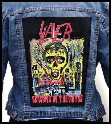 SLAYER - Seasons In The Abyss --- Giant Backpatch Back Patch