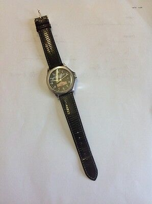 Vintage Union Pacific Railroad Alamo Service Unit Texas Hirsch Watch