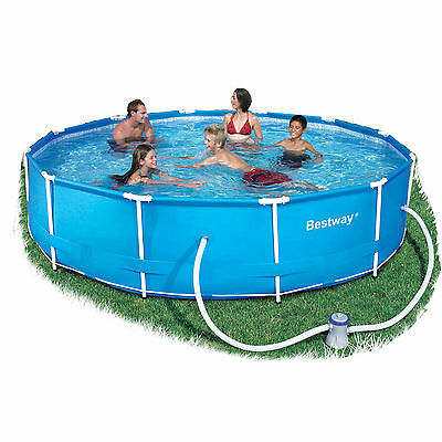 """Bestway Steel Pro Frame 12ft x 30"""" Swimming Pool with Filter Pump BW56062"""