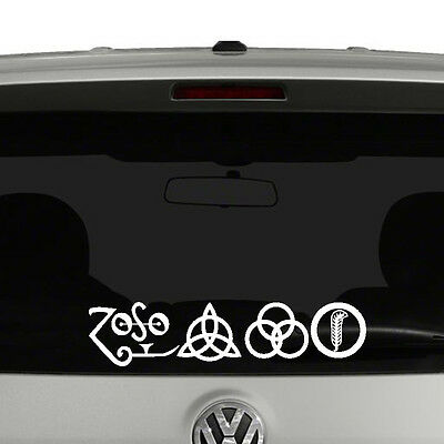 Led zeppelin iv zoso vinyl decal sticker car window
