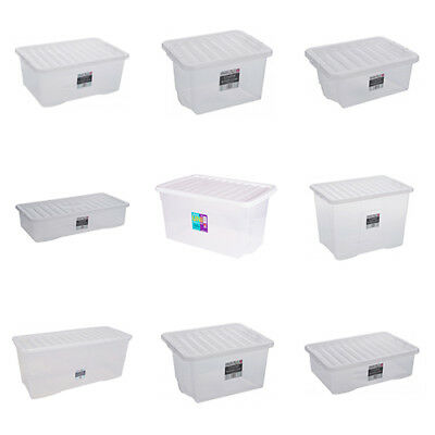 Kids Large Clear Plastic Childrens Toy Storage Box