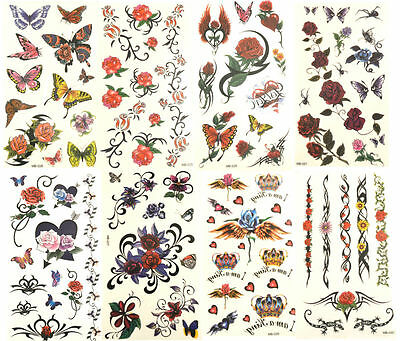 Selection of High Fashion Stylish On Trend Temporary Tattoos - Great for Parties