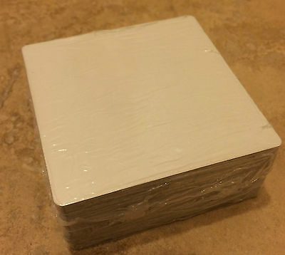 "50ea Dye Sublimation Aluminum Square Blanks 3""x 3"""
