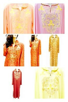 Moroccan Sequinned Farasha Ladies Long Sleeved Dress Arabic Eid Kaftan Abaya Wow