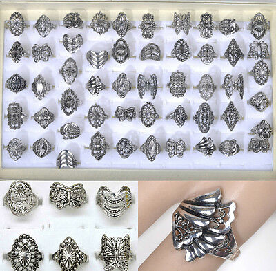 10pcs Wholesale lot Mix Style Vintage Jewelry Silver Elegant Alloy Fashion Rings