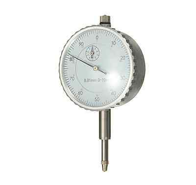Dial Indicator Gauge 0-10mm Meter Precise 0.01 Resolution Concentricity Test Uni