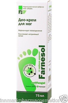 46224  Antifungal deo-cream for feet Normalizes perspiration Farnesol 75ml Elfa