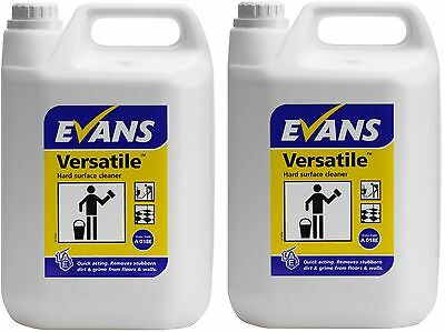 2 x 5 Ltr Evans Vanodine Versatile hard surface cleaner floral floor walls tiles