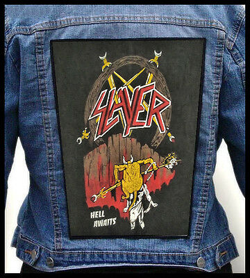 SLAYER - Hell Awaits !!! LIMITED !!!  --- Giant Backpatch Back Patch