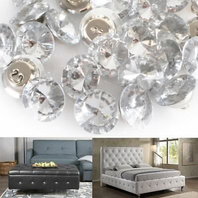 50x 20/25mm Crystal Upholstery Buttons For Headboards Stylish Furniture DIY