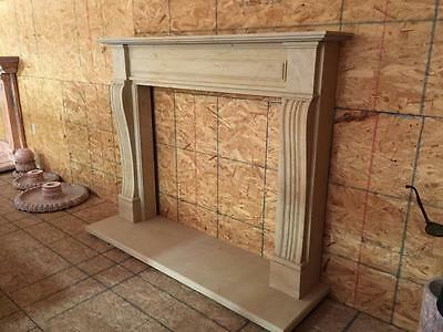 Beautiful Hand Carved Marble Estate  Fireplace Mantel  - Jd21