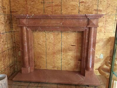 Beautiful Hand Carved Marble Estate  Fireplace Mantel  - Jd22