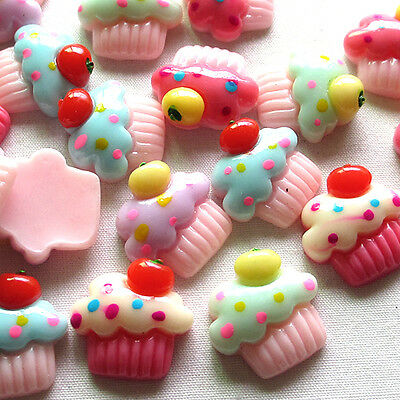 Upick 20/100pcs Mix Lots Summer Ice Cream Resin Flatbacks Scrapbooking Button
