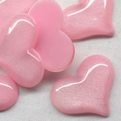 Flatback Resin Heart Button i phone Shell Deco Scrapbooking Craft Upick