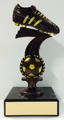 Soccer Trophy EPL Football Boot & Ball Figurine Award 135mm Free Engraving