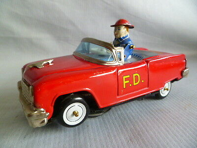 Very RARE!!  Bump'n go Fire Chief Car with Driver