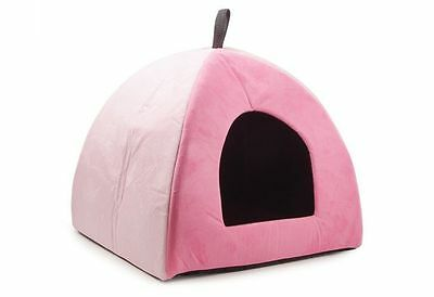 NEW Ancol Pink Faux Suede Pyramid Bed Luxury Cat Small Dog Puppy Soft Bed House