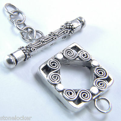 TG35 Toggle 37mm SILBER 925 Verschluss f. Kette u. Armband silver clasp 37mm