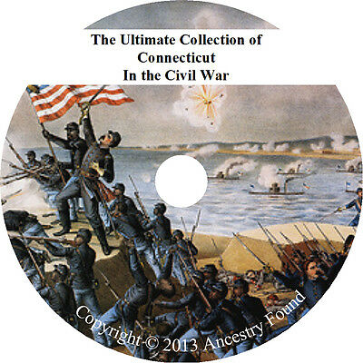 Connecticut Civil War Books - History & Genealogy - 32 Books on DVD, Rosters