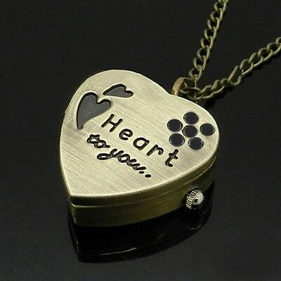 Gold Heart Necklace Watch