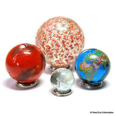 Planetary Universe Globe Marble Collection - Sun, Mars, Earth & Moon- Astronomy