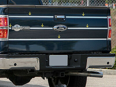 ford f 150 king ranch 09 14 stainless steel tailgate insert 6pc kit made