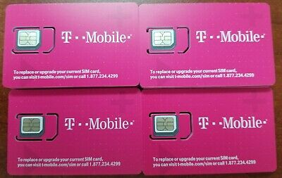 NEW T-Mobile 4G FACTORY Micro Sim Card Unactivated. TMobile Newest LTE