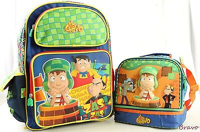 """2016 New El Chavo 16"""" Kids LARGE SCHOOL Backpack & Lunch Bag 2Pc Sets USA SHIP"""